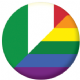Italy Gay Pride Flag 58mm Button Badge